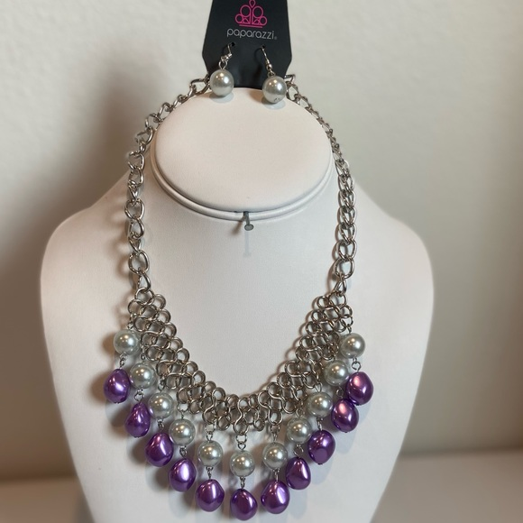 Paparazzi Multi Necklace With Matching Earrings